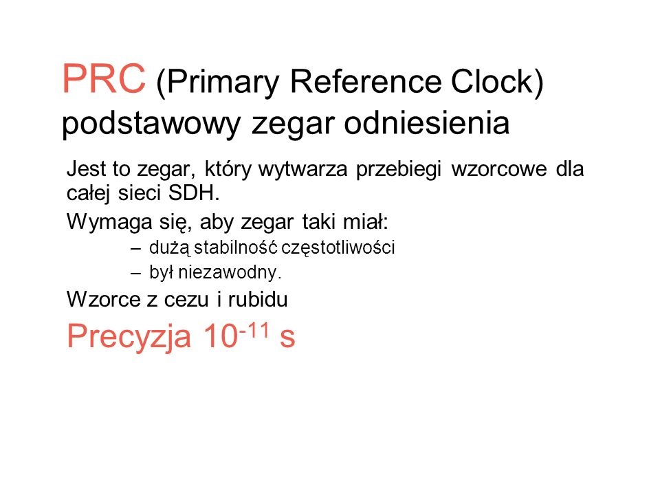 PRC (Primary Reference Clock)