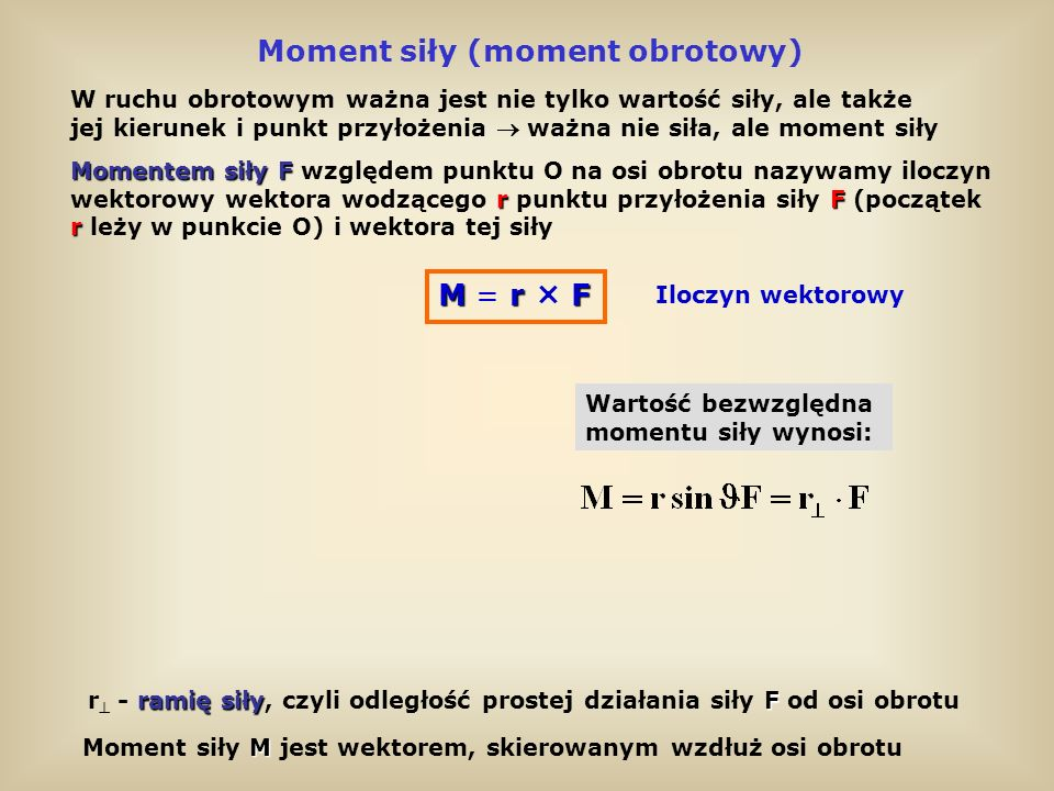 Moment siły (moment obrotowy)