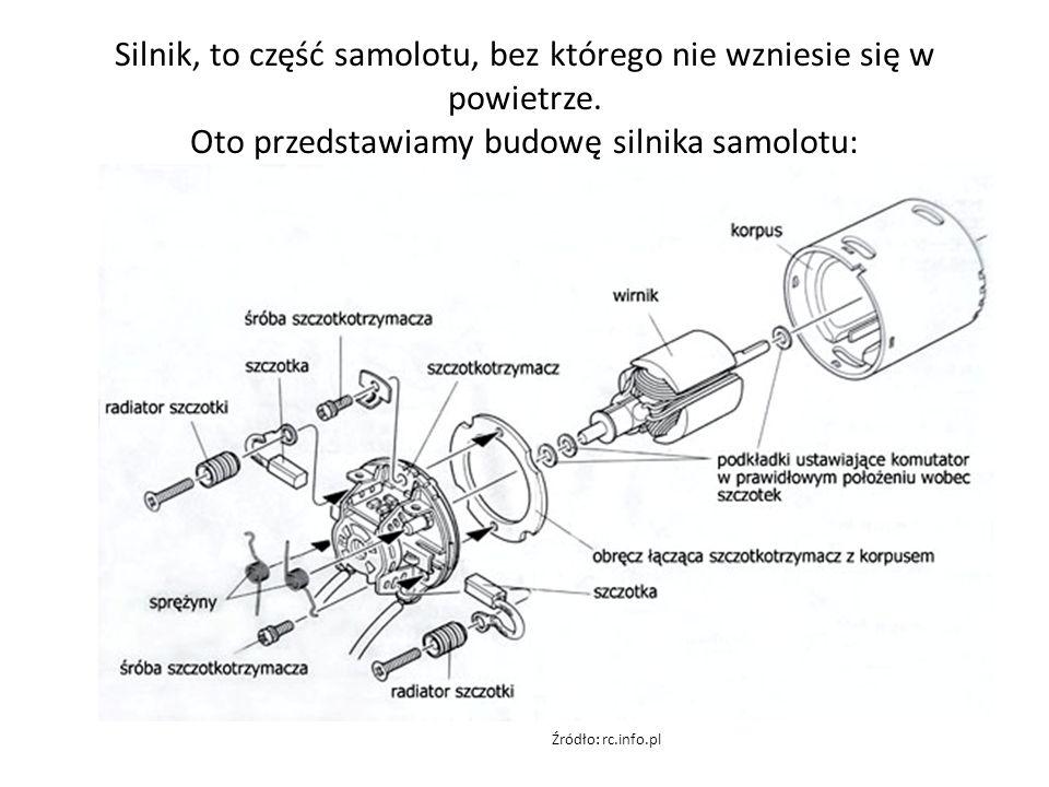 Silnik, to część samolotu, bez którego nie wzniesie się w powietrze