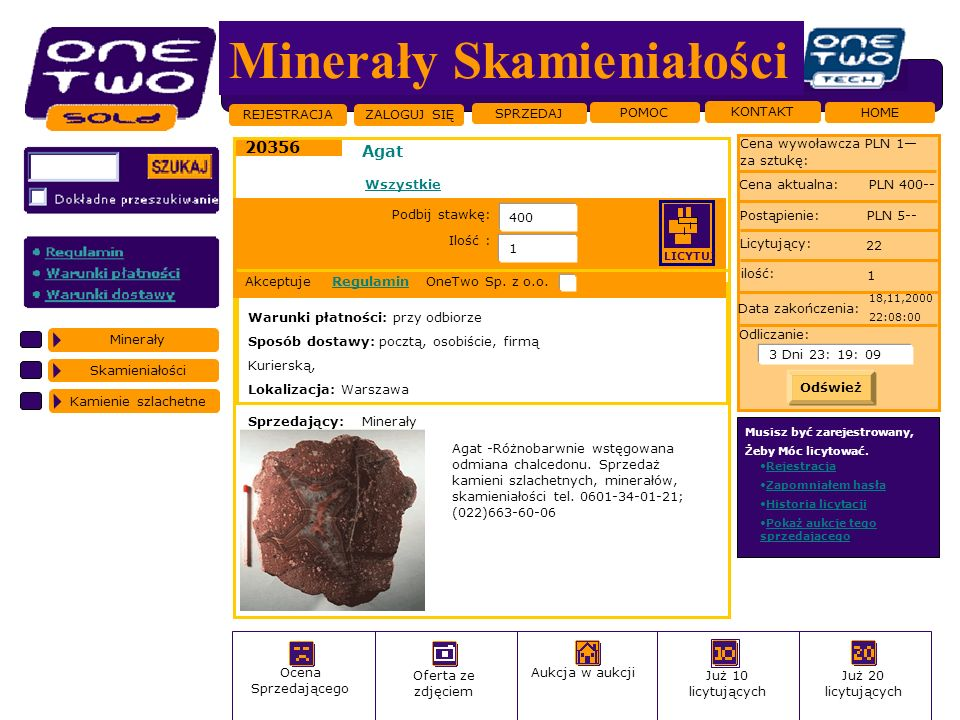 Minerały Skamieniałości