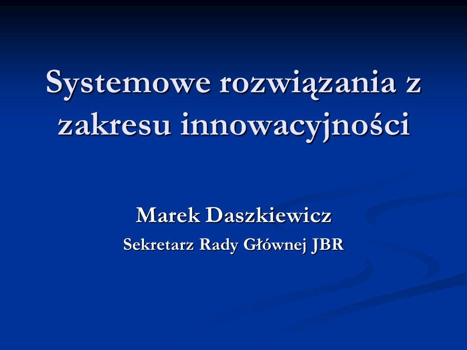 Systemowe rozwiązania z zakresu innowacyjności