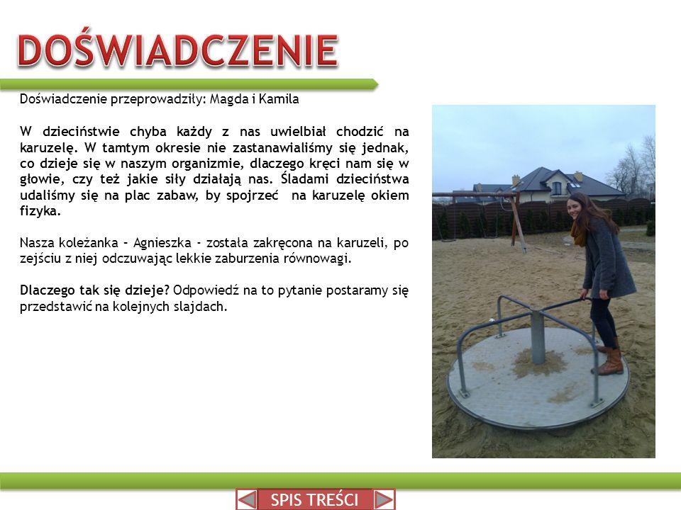 DOŚWIADCZENIE SPIS TREŚCI Doświadczenie przeprowadziły: Magda i Kamila
