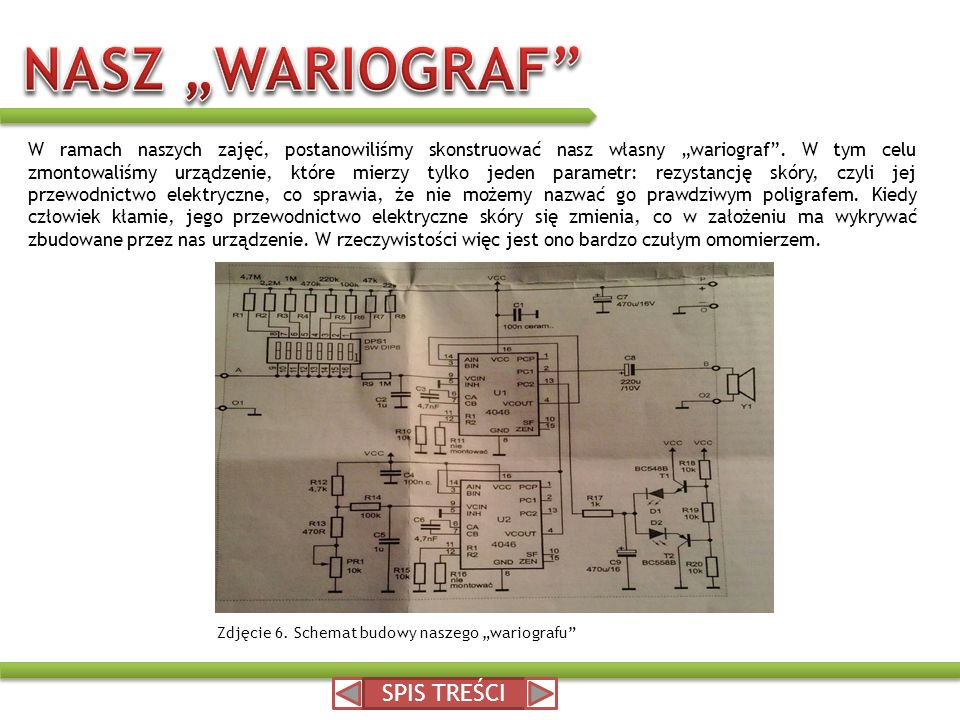 "NASZ ""WARIOGRAF SPIS TREŚCI"