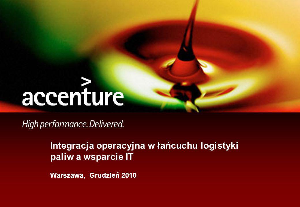 Integracja operacyjna w łańcuchu logistyki paliw a wsparcie IT Warszawa, Grudzień 2010