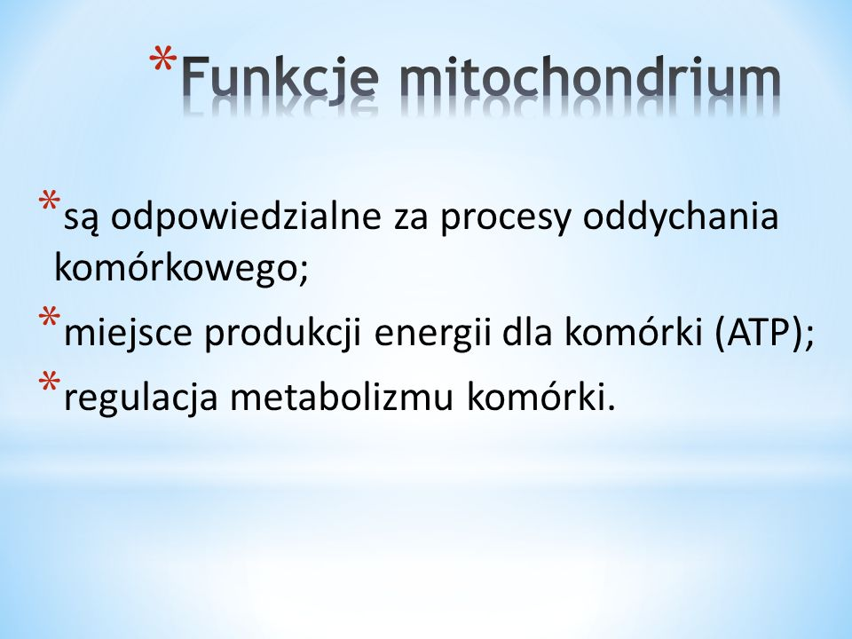 Funkcje mitochondrium