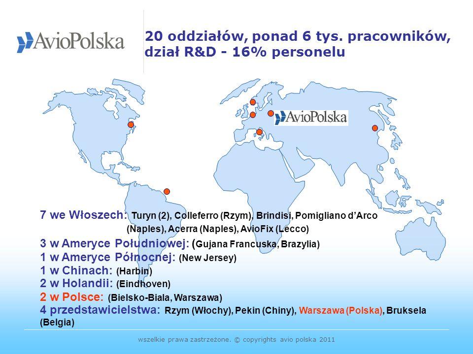 20 oddziałów, ponad 6 tys. pracowników, dział R&D - 16% personelu