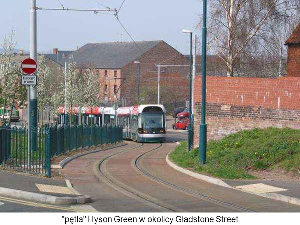 pętla Hyson Green w okolicy Gladstone Street