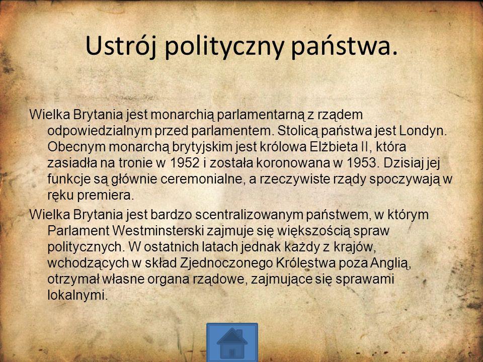 Ustrój polityczny państwa.