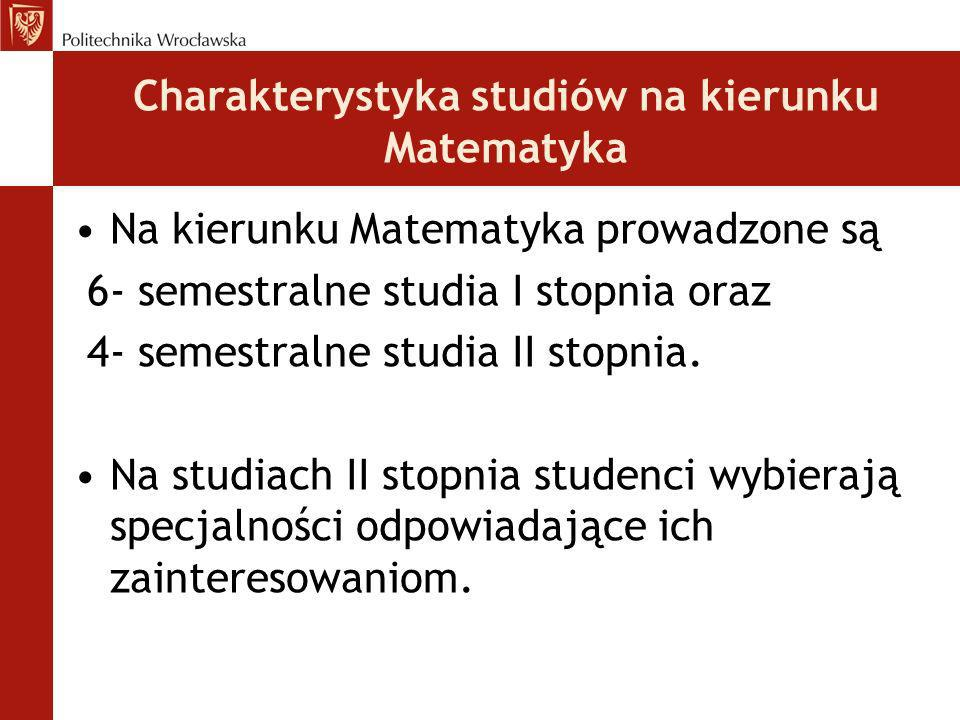 Charakterystyka studiów na kierunku Matematyka