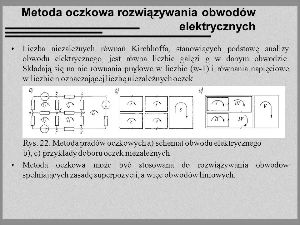 Metoda oczkowa rozwiązywania obwodów elektrycznych