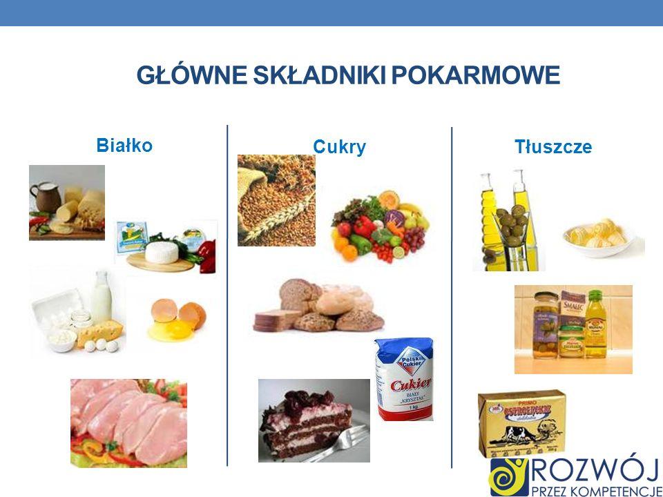 Główne składniki pokarmowe