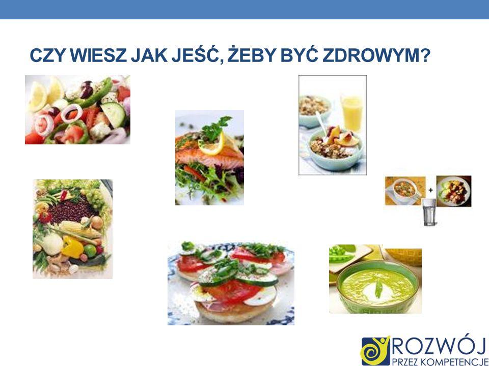 Czy wiesz jak jeść, żeby być zdrowym