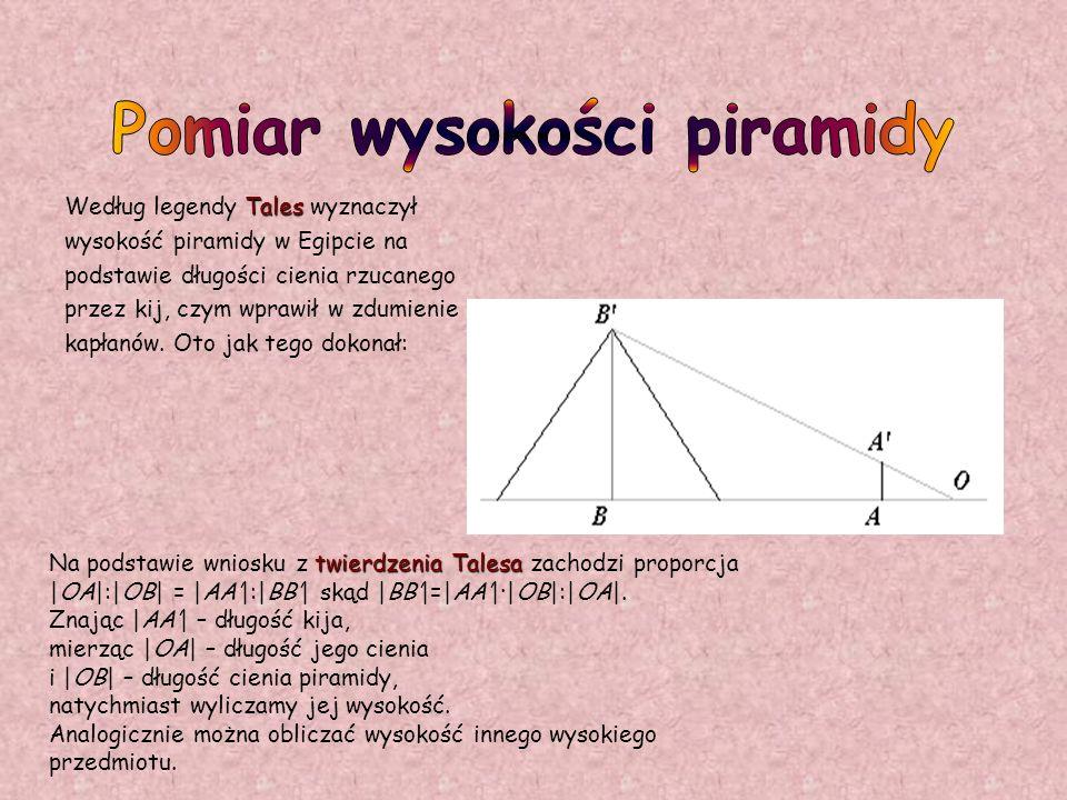 Pomiar wysokości piramidy