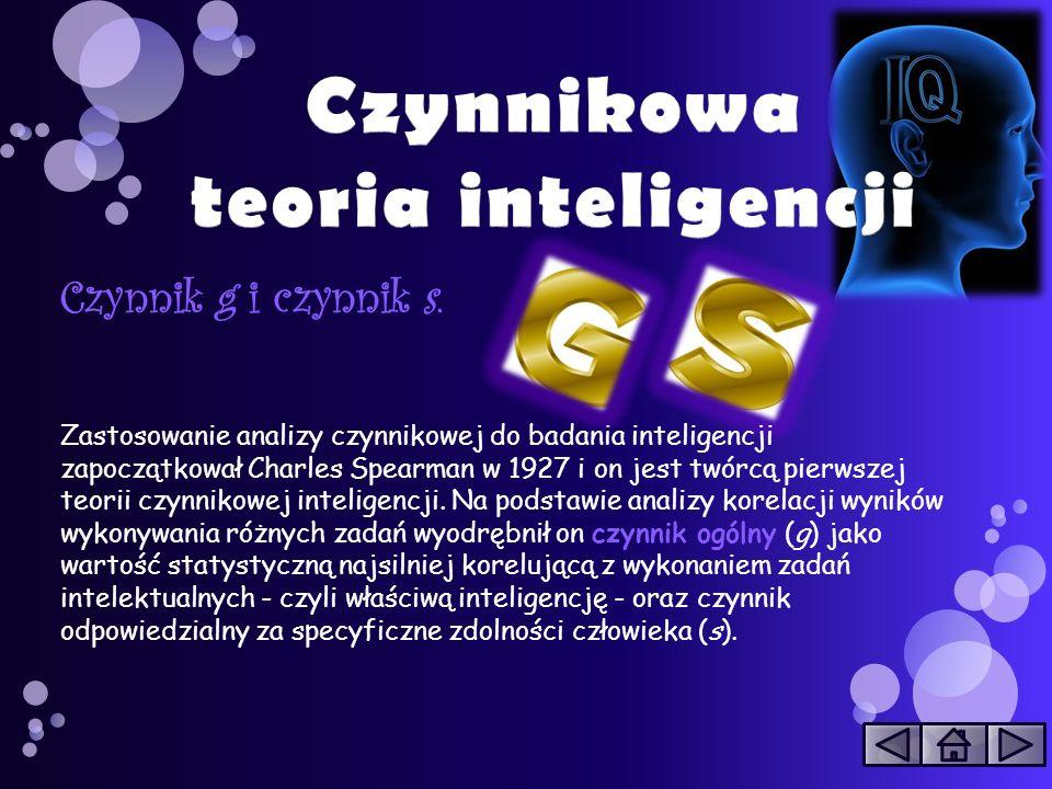 Czynnikowa teoria inteligencji
