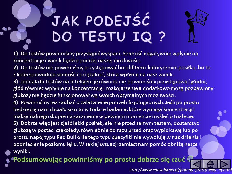 JAK PODEJŚĆ DO TESTU IQ