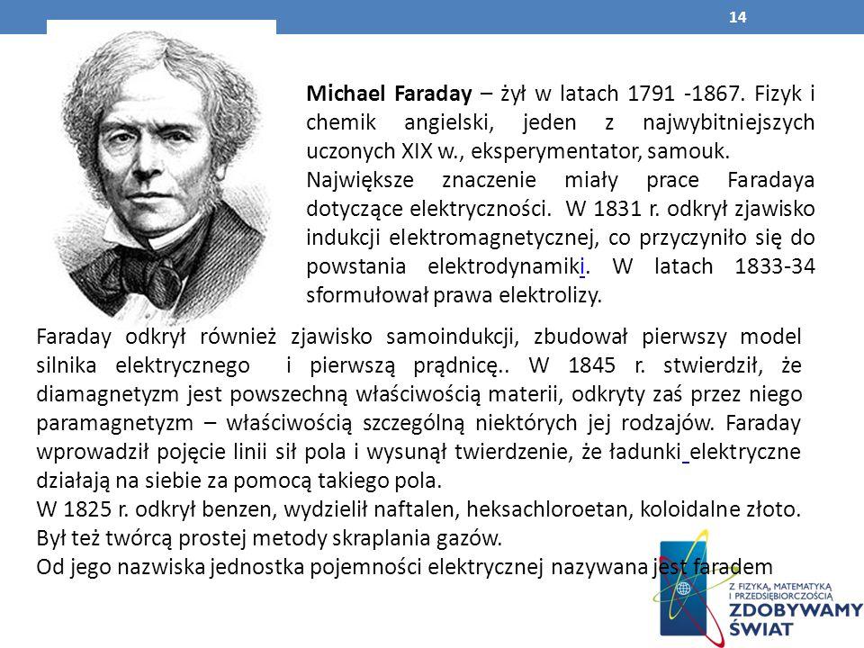Michael Faraday – żył w latach 1791 -1867