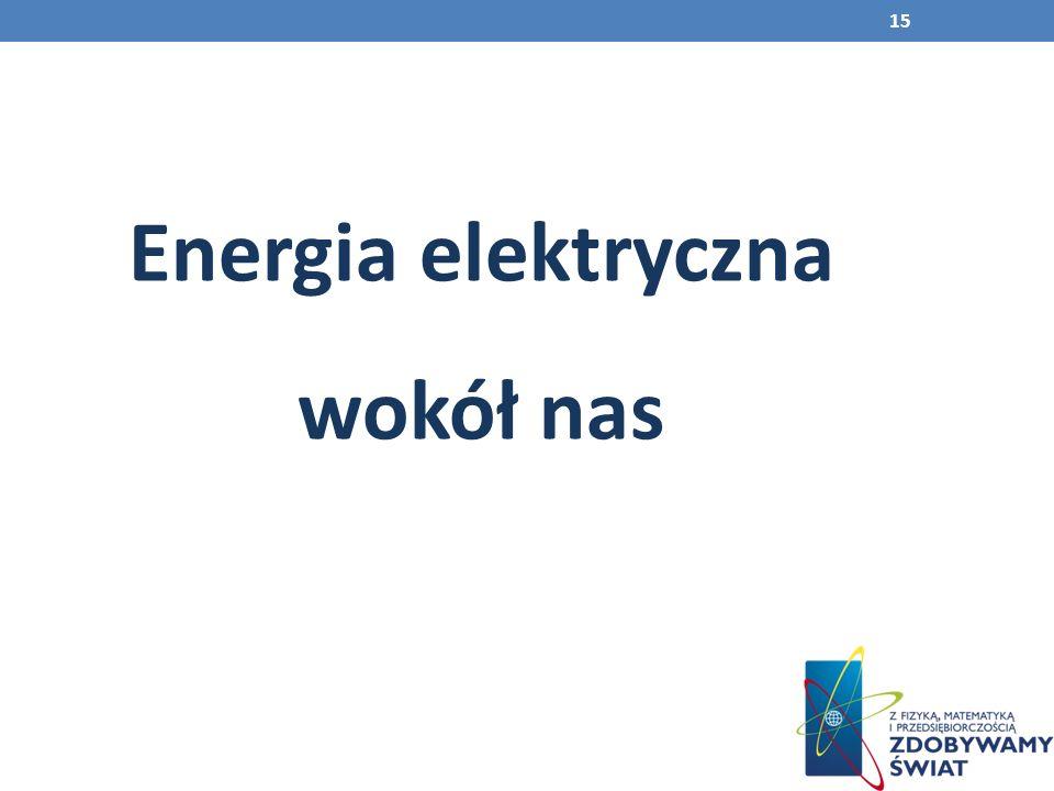 Energia elektryczna wokół nas