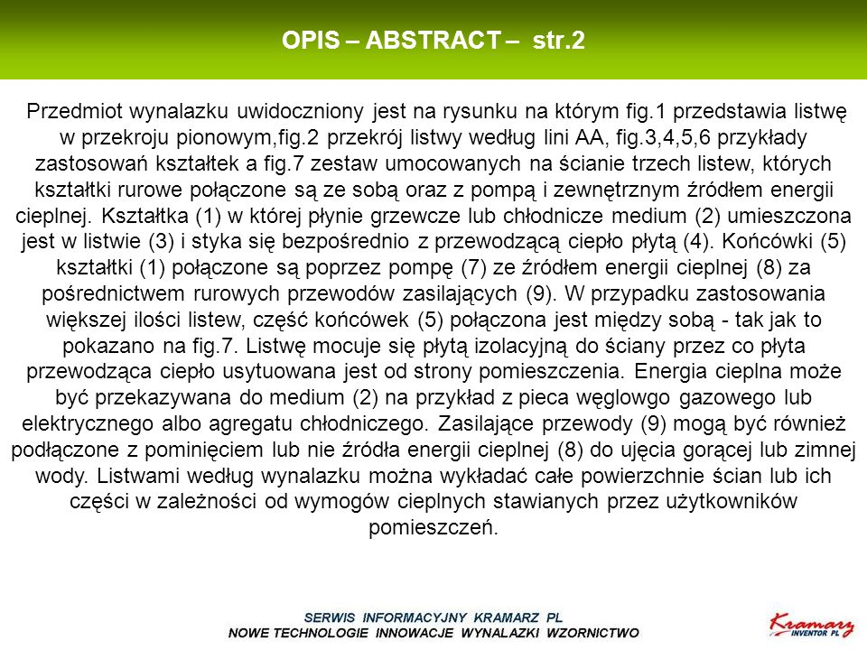 OPIS – ABSTRACT – str.2