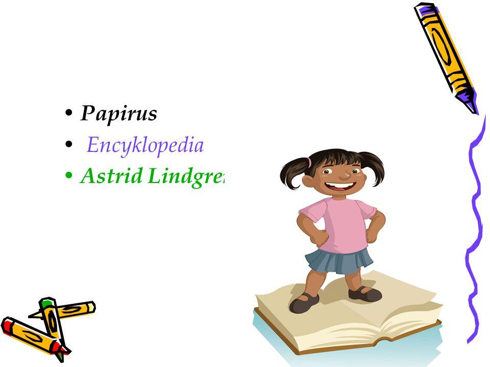 Papirus Encyklopedia Astrid Lindgren