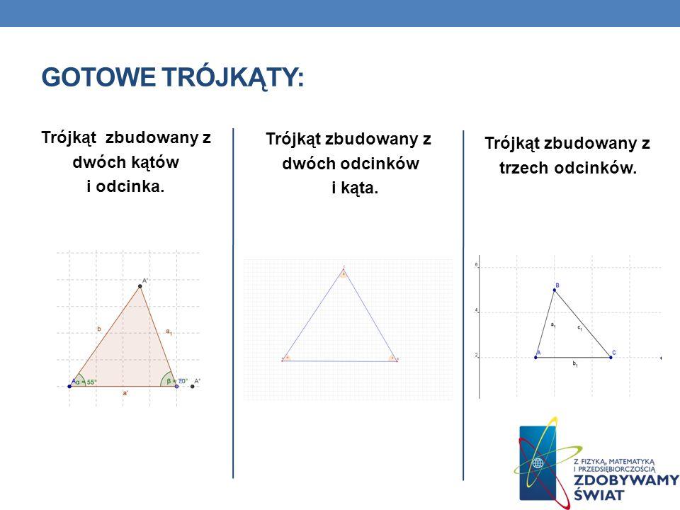 GOTOWE TRÓJKĄTY: Trójkąt zbudowany z Trójkąt zbudowany z