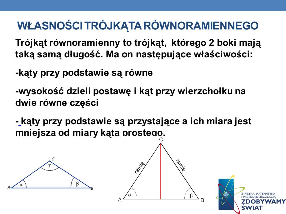 Własności trójkąta równoramiennego