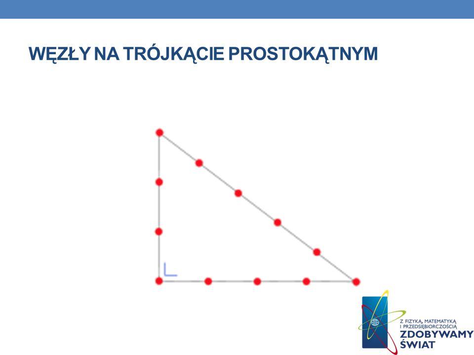 Węzły na trójkącie prostokątnym
