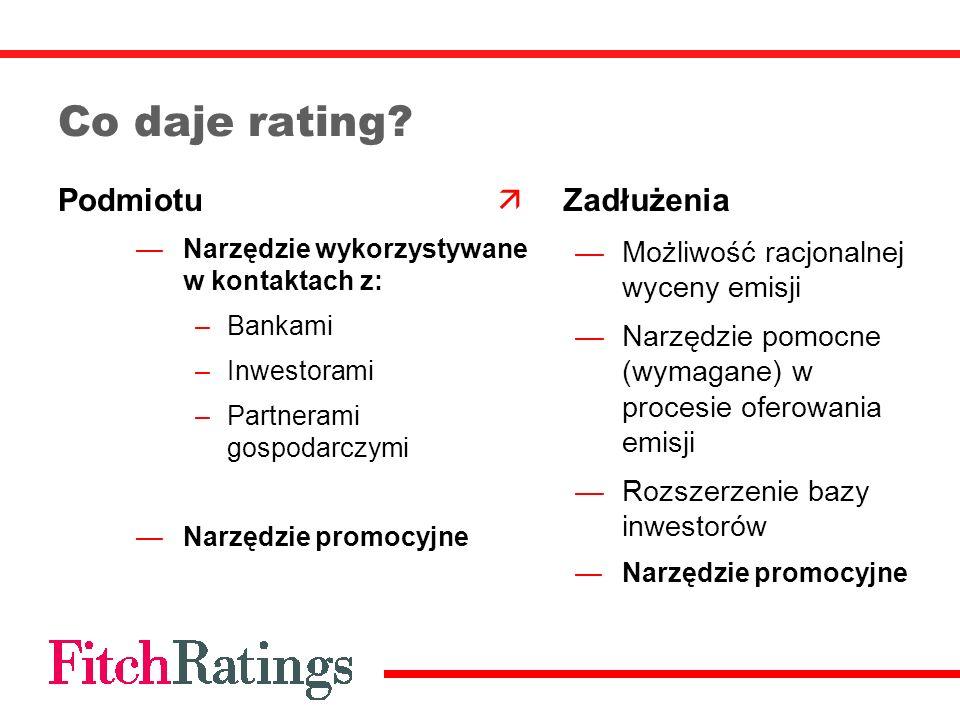 Co daje rating Podmiotu Zadłużenia