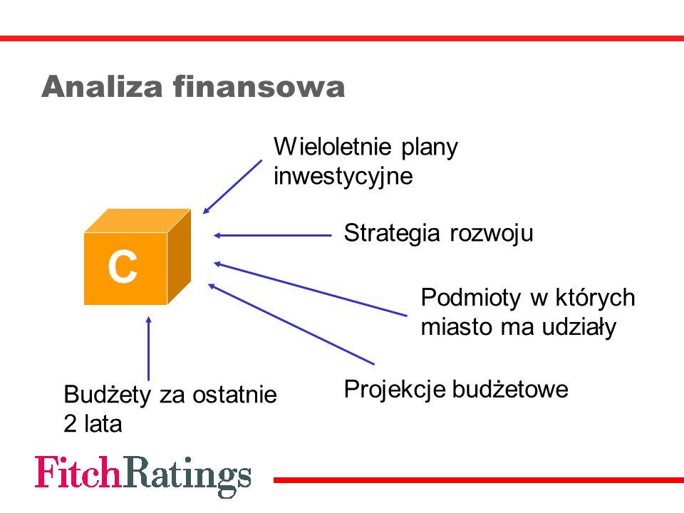 C Analiza finansowa Wieloletnie plany inwestycyjne Strategia rozwoju