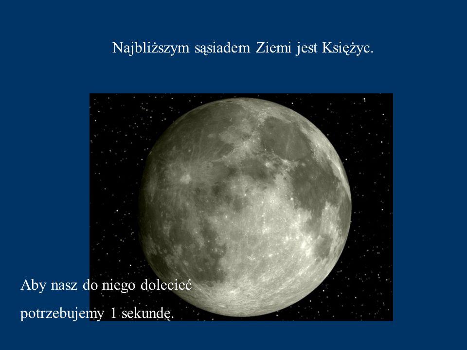 Najbliższym sąsiadem Ziemi jest Księżyc.