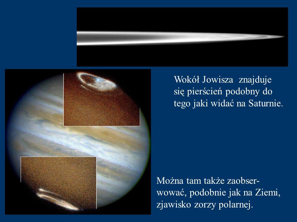 Wokół Jowisza znajduje się pierścień podobny do tego jaki widać na Saturnie.