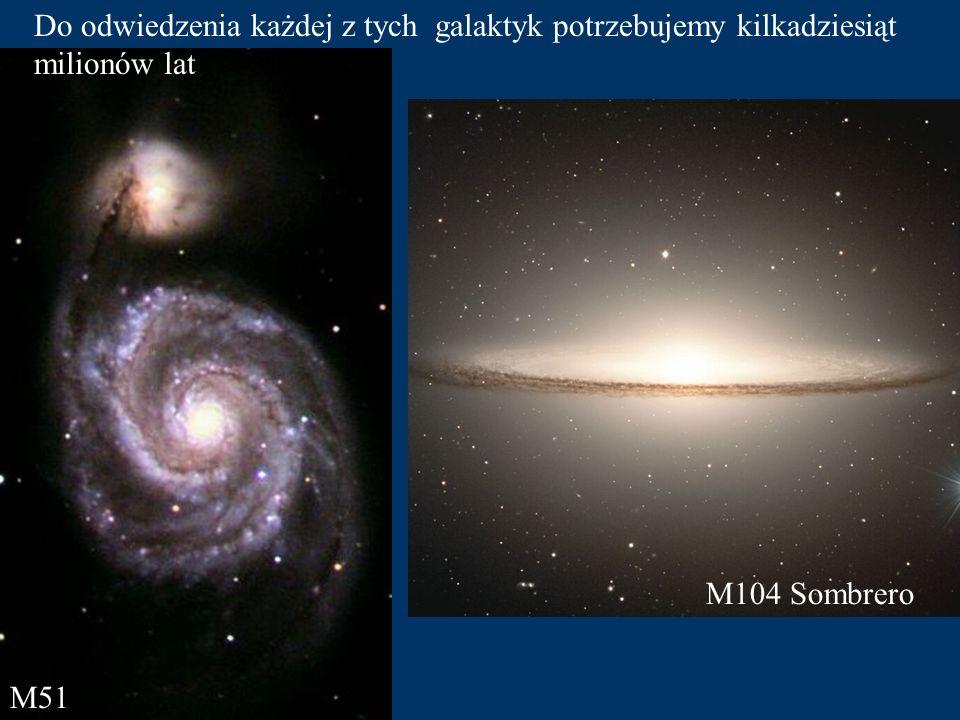 Do odwiedzenia każdej z tych galaktyk potrzebujemy kilkadziesiąt milionów lat