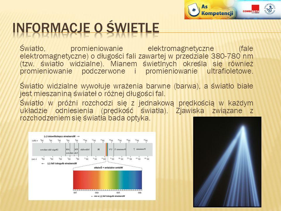 Informacje o świetle