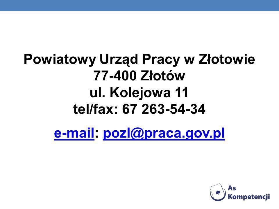 Powiatowy Urząd Pracy w Złotowie 77-400 Złotów ul
