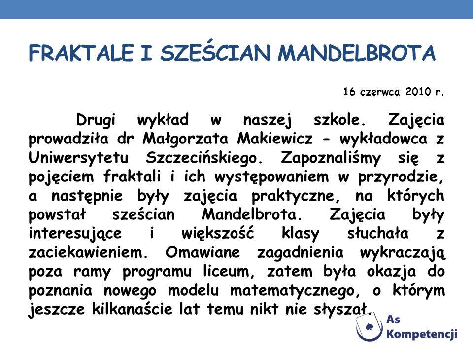 FRAKTALE I SZEŚCIAN MANDELBROTA