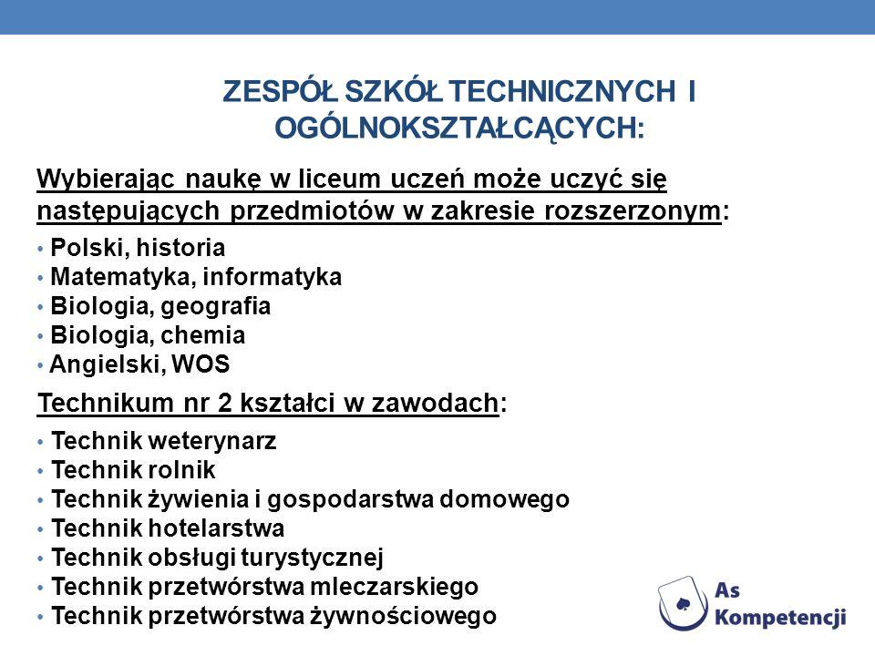 Zespół Szkół Technicznych i Ogólnokształcących: