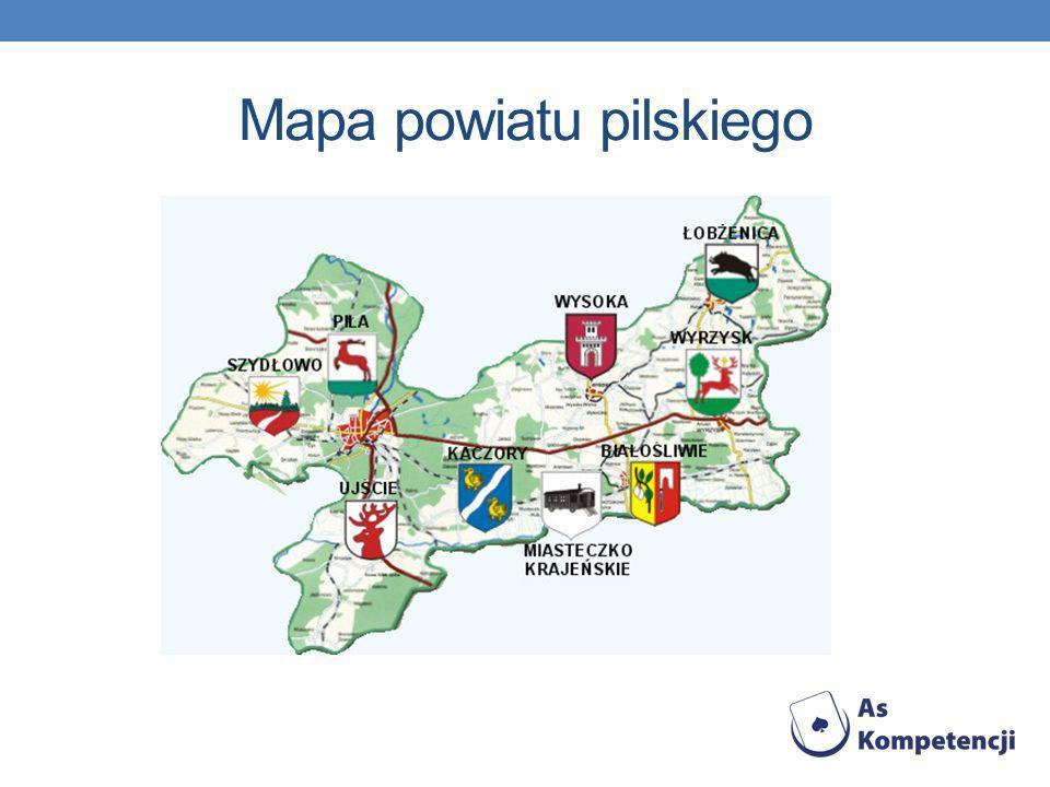 Mapa powiatu pilskiego