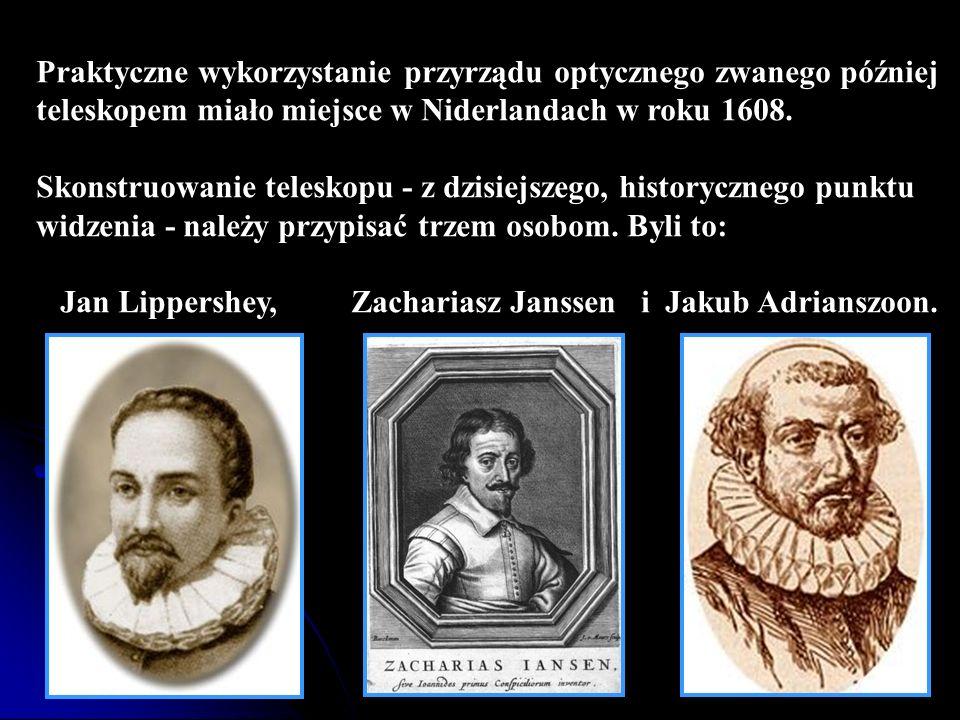 Praktyczne wykorzystanie przyrządu optycznego zwanego później teleskopem miało miejsce w Niderlandach w roku 1608.