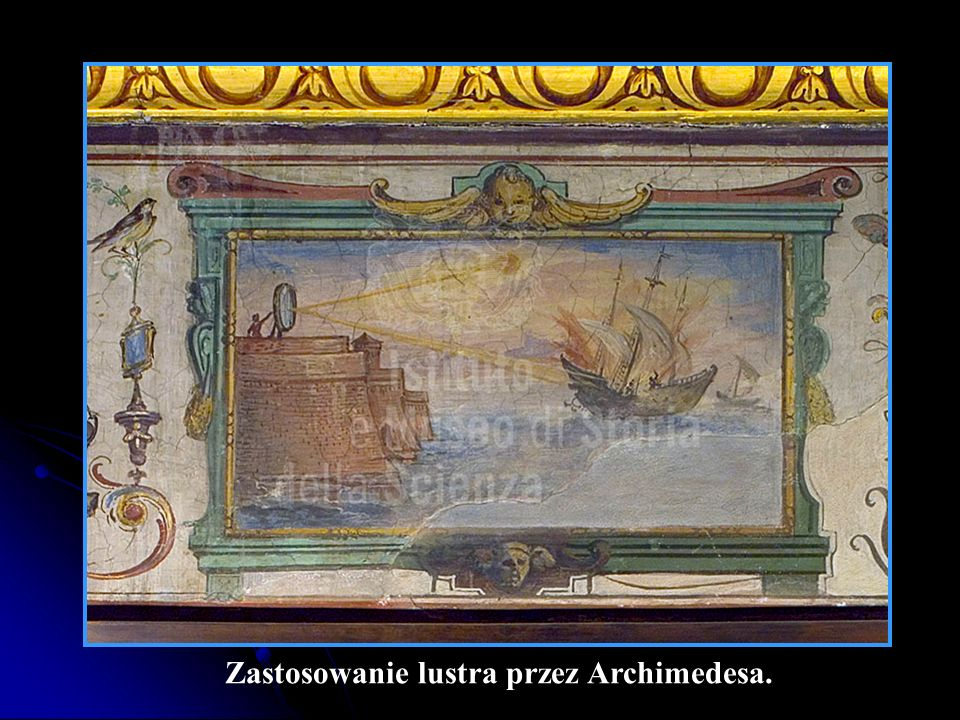 Zastosowanie lustra przez Archimedesa.