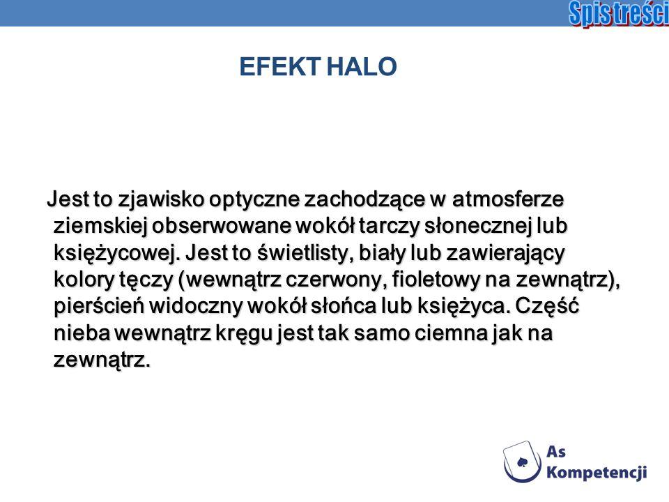 Spis treści Efekt Halo.