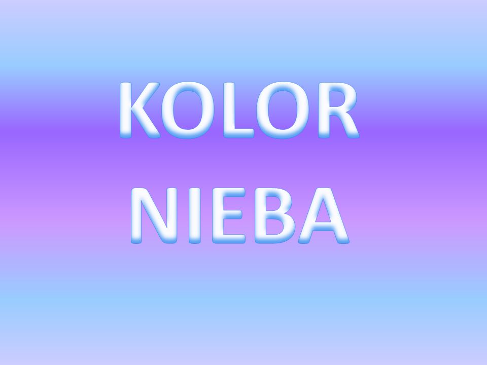 KOLOR NIEBA