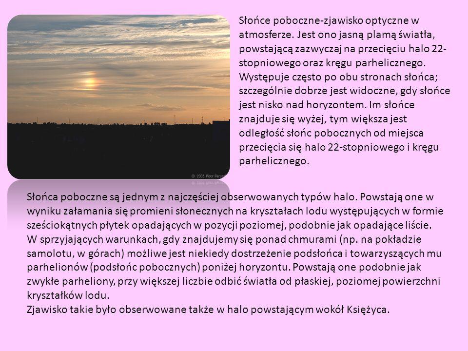 Słońce poboczne-zjawisko optyczne w atmosferze