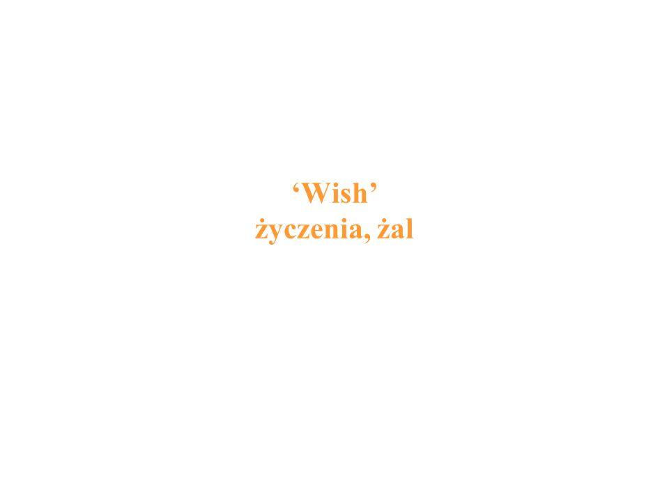 'Wish' życzenia, żal