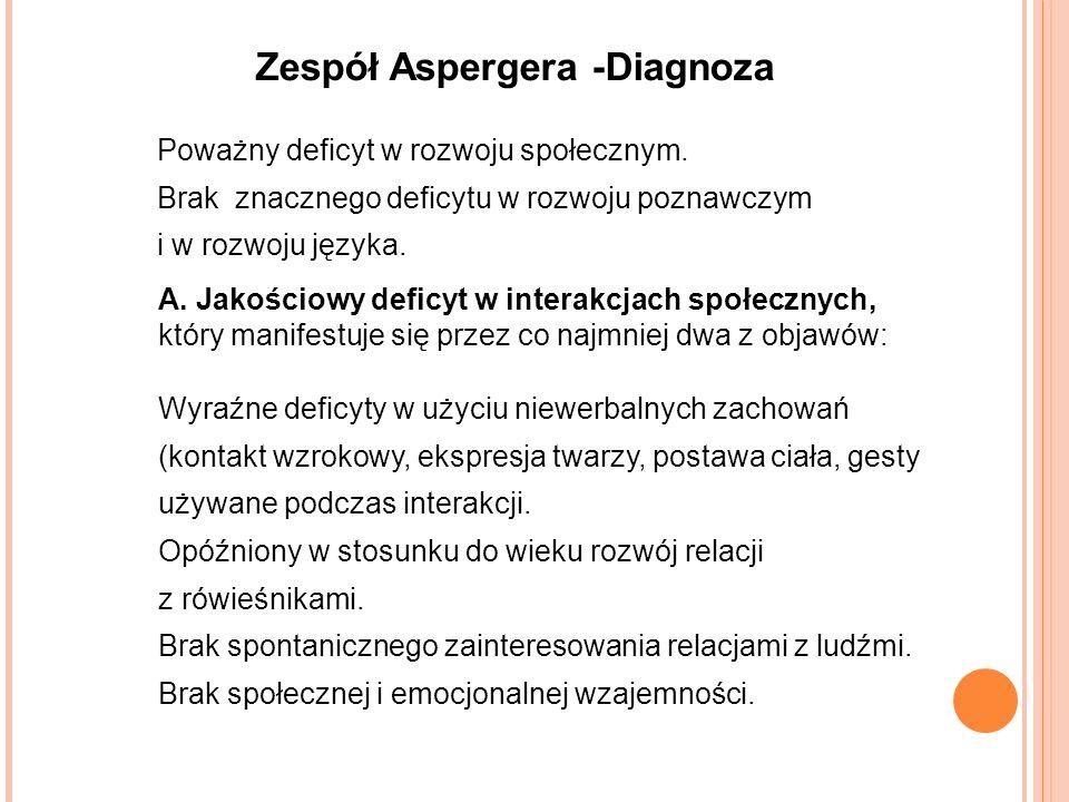 Zespół Aspergera -Diagnoza