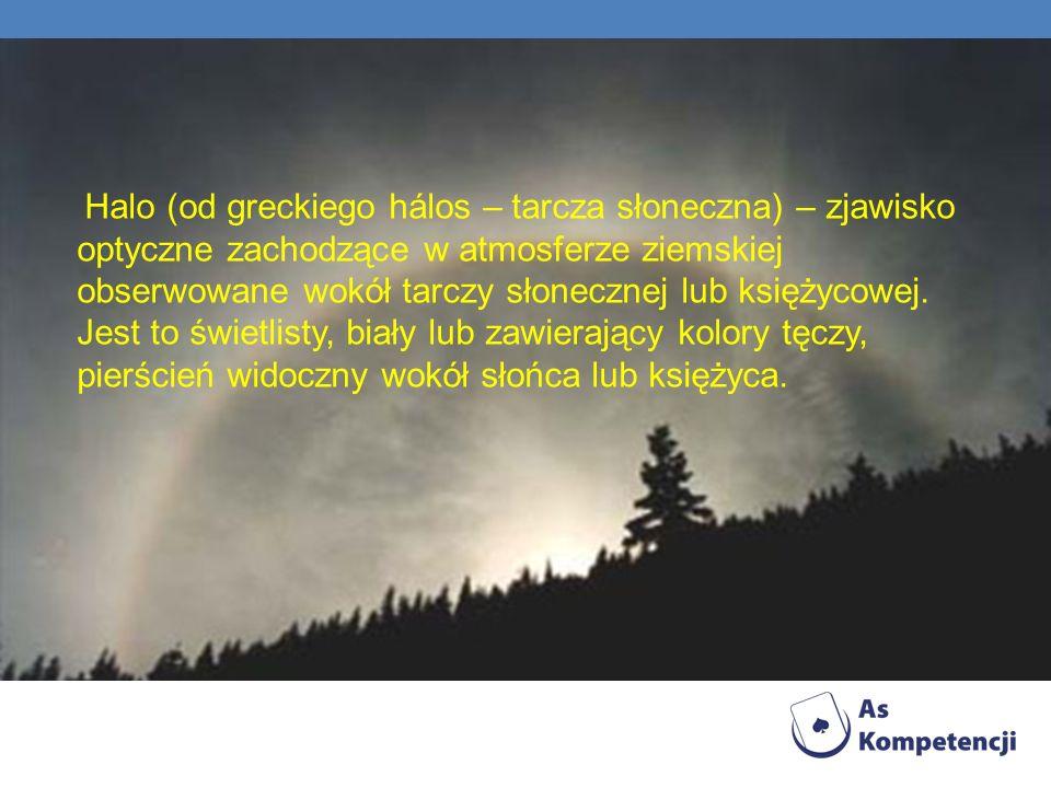 Halo (od greckiego hálos – tarcza słoneczna) – zjawisko optyczne zachodzące w atmosferze ziemskiej obserwowane wokół tarczy słonecznej lub księżycowej.