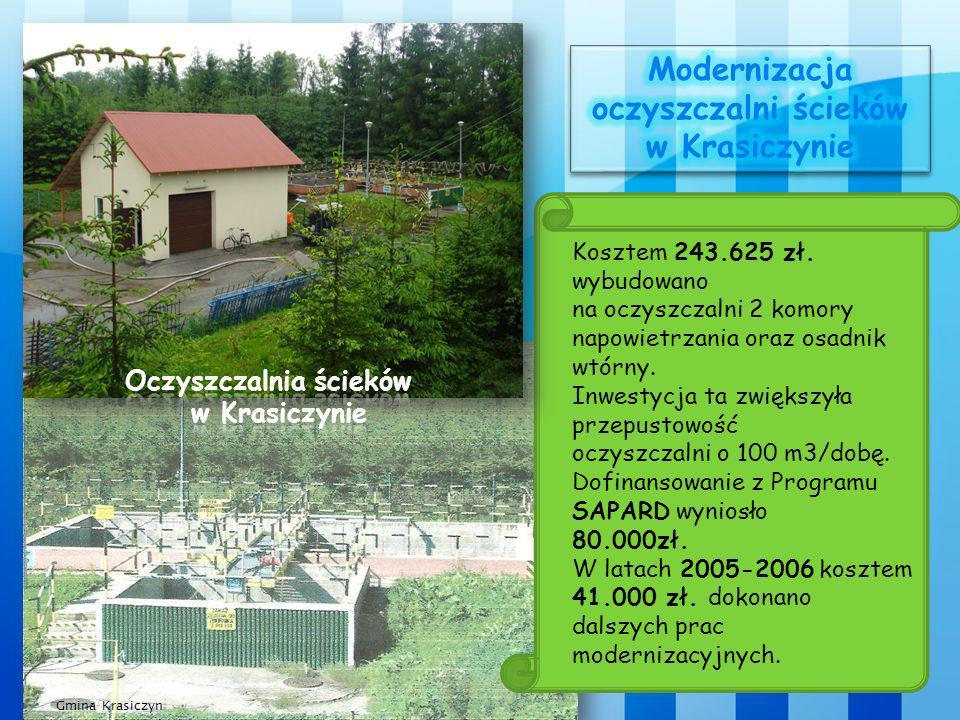 Modernizacja oczyszczalni ścieków w Krasiczynie Oczyszczalnia ścieków