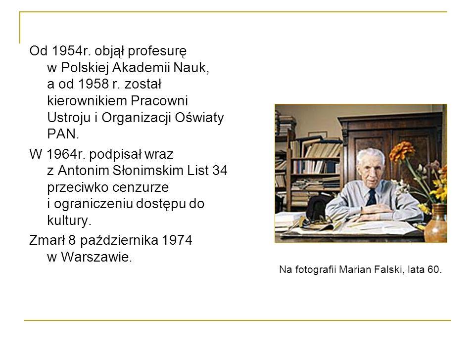 Zmarł 8 października 1974 w Warszawie.