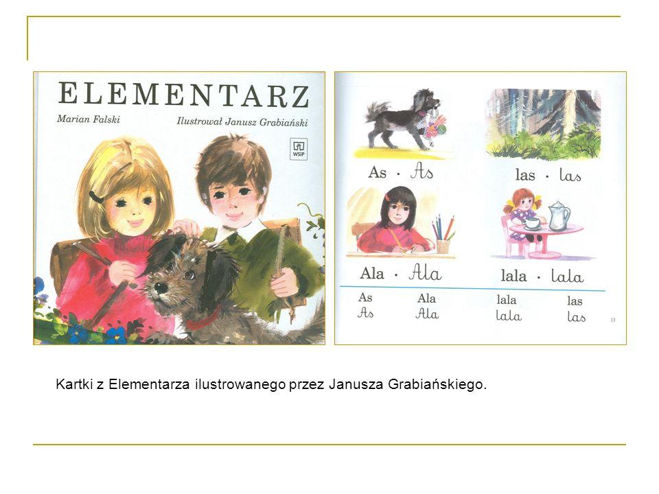Kartki z Elementarza ilustrowanego przez Janusza Grabiańskiego.