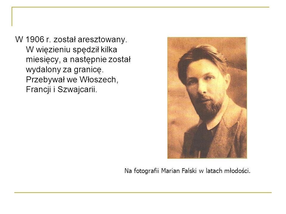W 1906 r. został aresztowany. W więzieniu spędził kilka miesięcy, a następnie został wydalony za granicę. Przebywał we Włoszech, Francji i Szwajcarii.