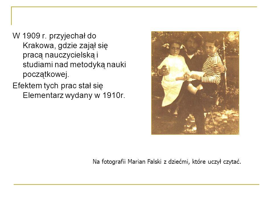 Efektem tych prac stał się Elementarz wydany w 1910r.