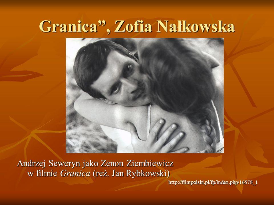 Granica , Zofia Nałkowska